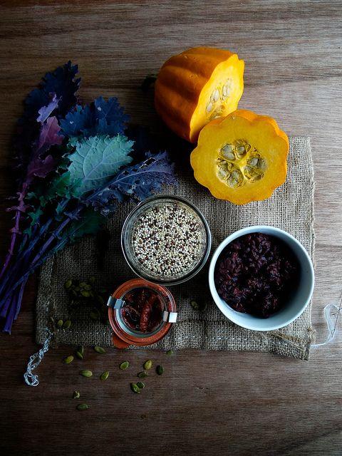 acorn squash with quinoa stuffing