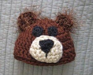 Free Crochet Bear Ear Hat Pattern : Bear Hat - free crochet pattern Free Crochet Baby Hat ...