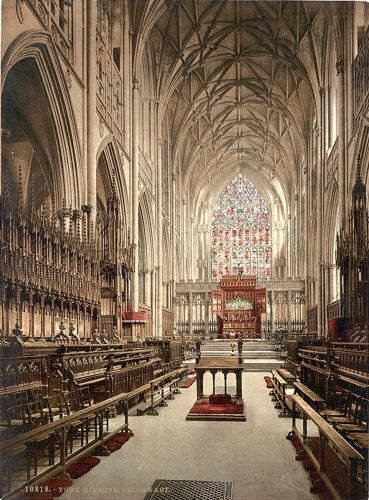 York Minster Cathedral - York, England.  I've sang in there and got to attend the installation of the new Dean!