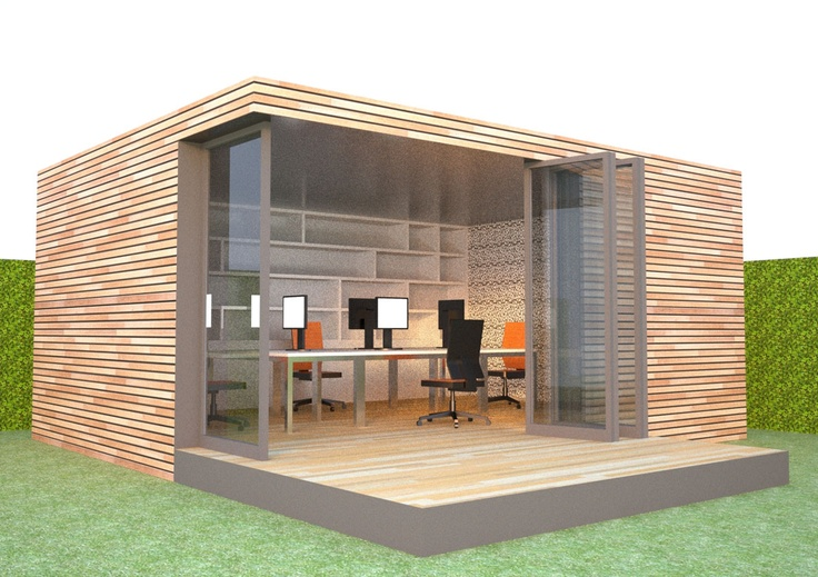 Prefabricated garden room system, office layout