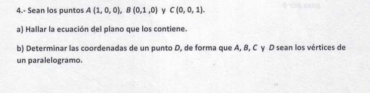 Ejercicio 4B 2015-2016 Julio. Propuesto en examen pau de Canarias. Matemática. Geometría métrica.