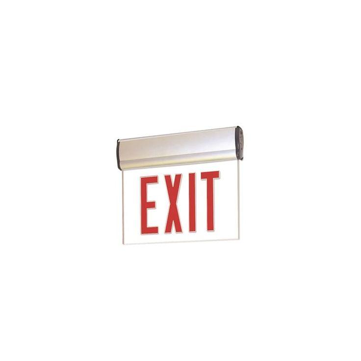battery backup aluminum commercial lighting emergency lights exit. Black Bedroom Furniture Sets. Home Design Ideas