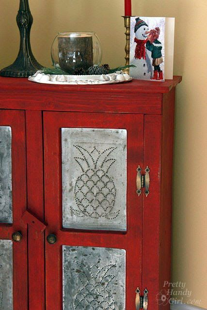 Rustic Red Pie Safe Painted With Miss Mustard Seed Milk Paint   Pretty  Handy Girl
