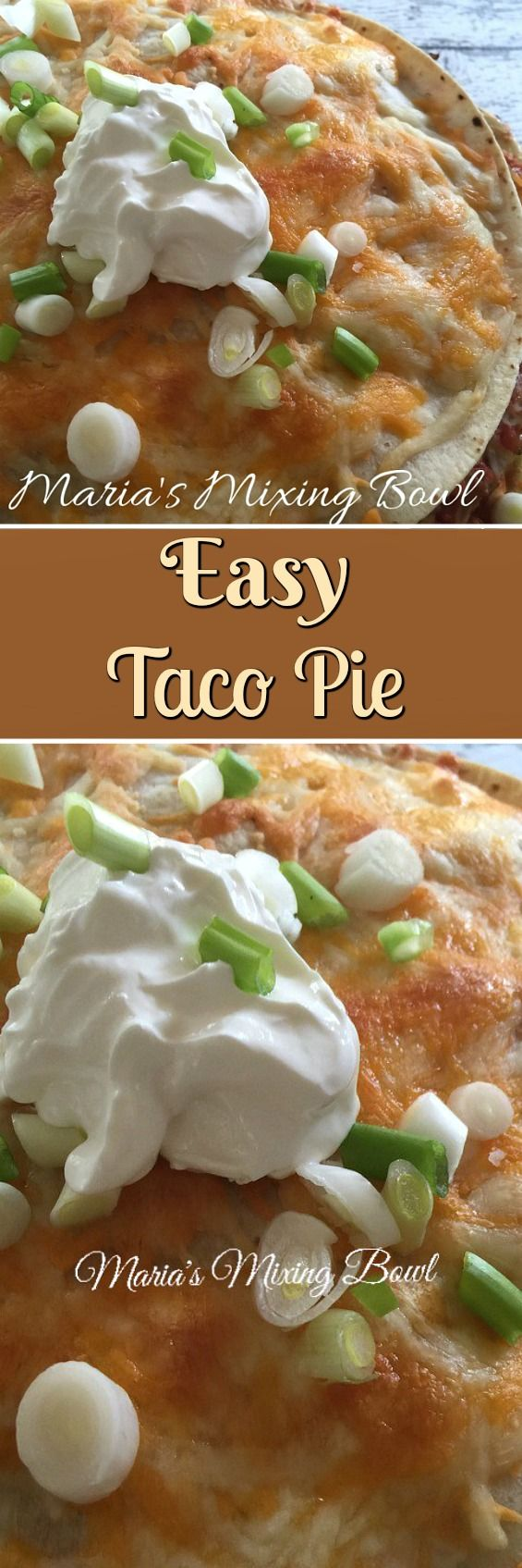 Easy Taco Pie - Love tacos? Then you will love this quick and easy Taco Pie!! Here is everything you love in a taco all in one easy pie! #easy #taco #pie #quick #weeknightfavorite #