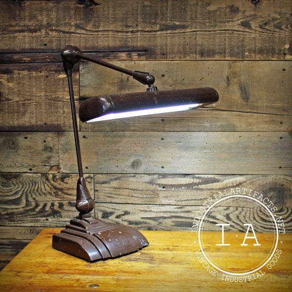vintage industrial art specialty company flexo florescent desk lamp drafting deco luz. Black Bedroom Furniture Sets. Home Design Ideas