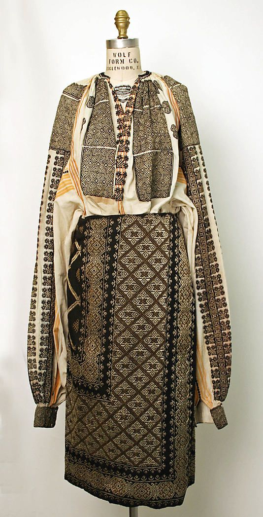 Ensemble Date: 19th century Culture: Romanian Medium: wool, cotton