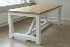 Kloostertafel steigerhout - grote houten tafel op maat - Thuins