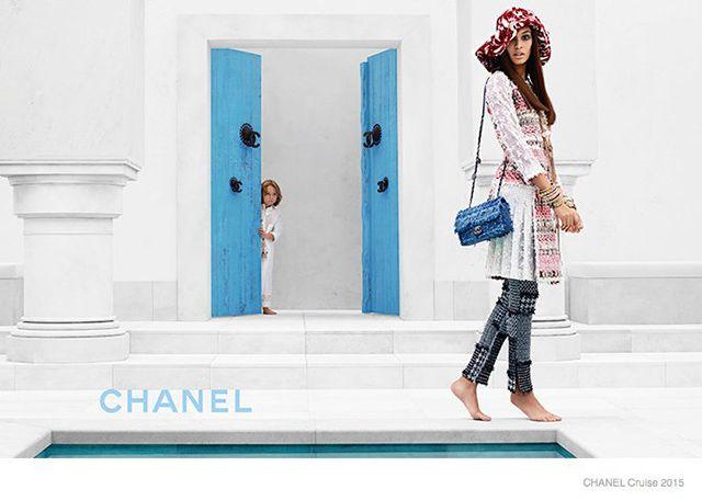 Джоан Смоллс в новой круизной кампании Chanel (фото 2)