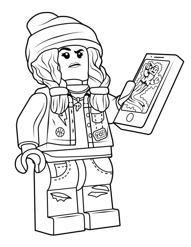 Parker Jackson Coloring Page From Hidden Side True North Bricks Lego Coloring Pages Coloring Pages Lego Coloring