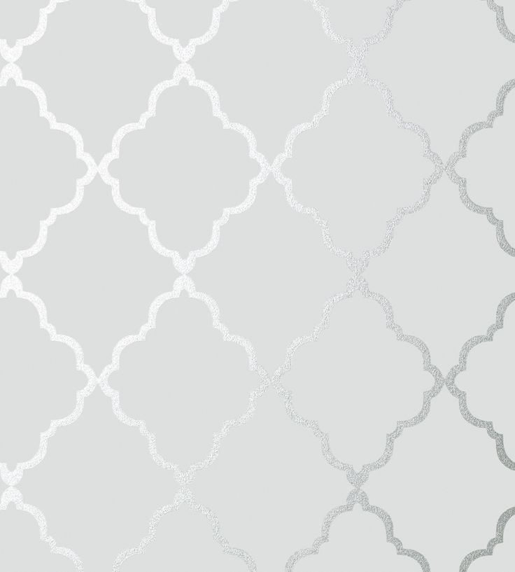 Klein Trellis - Silver on Grey wallpaper, from the Seraphina Wallpaper collection by Anna French