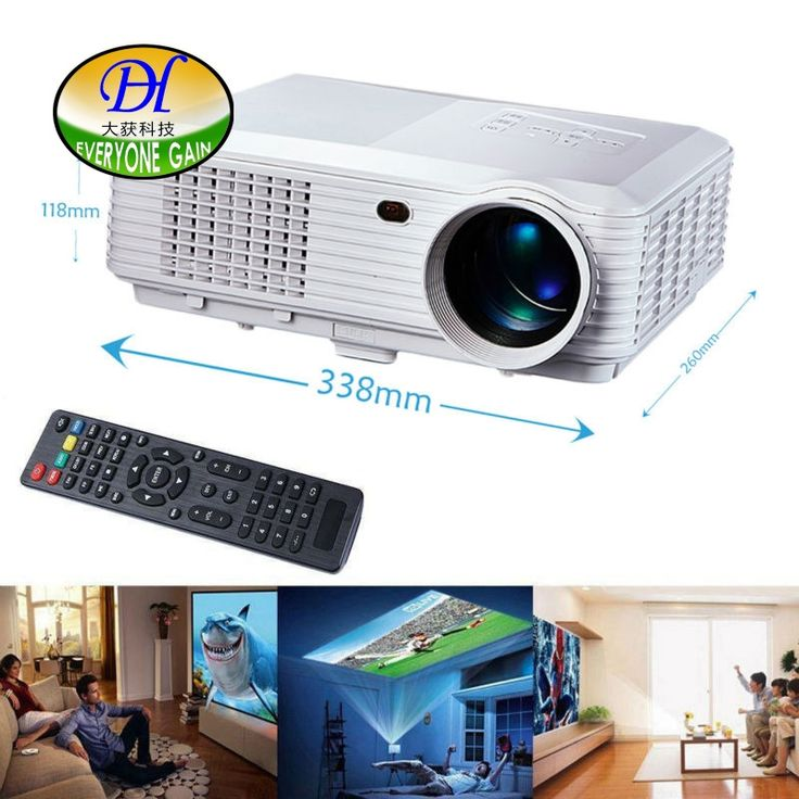 (237.55$)  Know more - http://aij81.worlditems.win/all/product.php?id=32408502695 - Everyone Gain 5200 lumens 3D LED LCD Full HD Projector Support 1920x1080P Video Proyector Office Home Theater Cinema Beamer