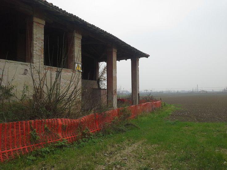 La nebbia, la pianura, il casale. Siamo in Emilia