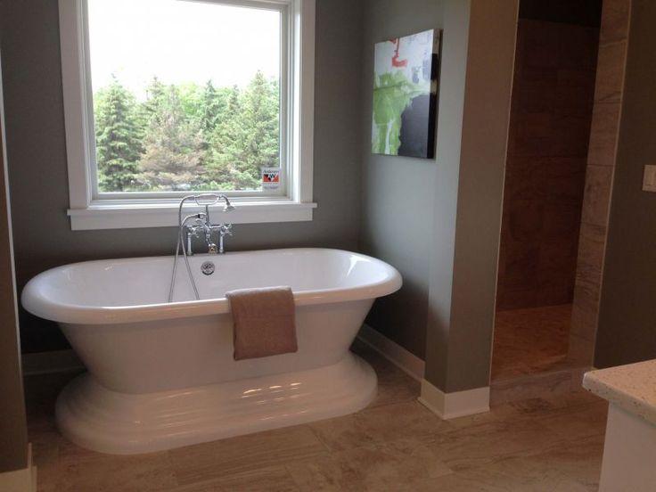 Freestanding Bath Tub In The Master Bathroom In A Small