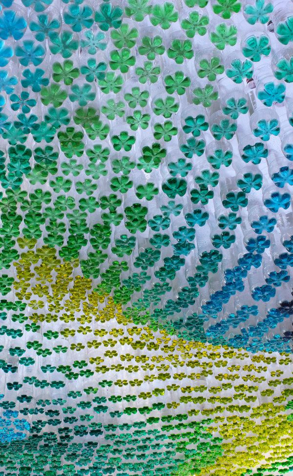 Colorful Plastic Bottle Canopy