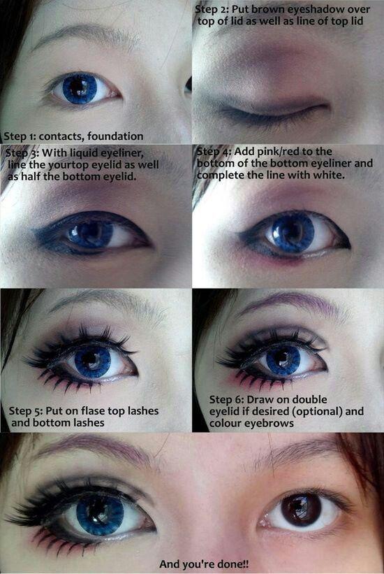 Cosplay eye make-up tutorial.