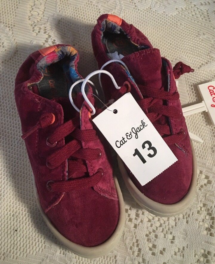 368f8dcf Cat and Jack Girls' Layna Velvet Scrunch Sneakers Burgundy - Size 13  #CatJack #Athletic