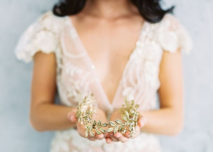 Best Bridal Accessories . accessories: Maggie Wu Studio / photography: Sally Pinera Photography / hair & makeup: Be.NYLA  / calligraphy: Seniman Calligraphy / dresses: Shop Gossamer / florals: Running Wild Florals  http://whitewren.com/artist-feature-maggie-wu-studio/