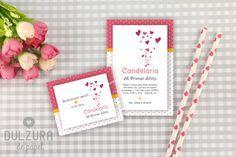 Invitación Primer Añito Corazones #Invitacion #Cumple #invitaciones #imprimible