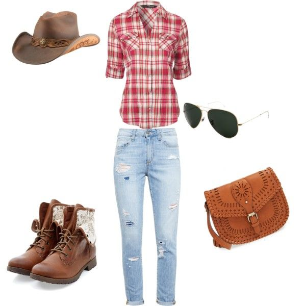 Country Girl by alison-jane-gairns on Polyvore featuring polyvore, fashion, style, Jane Norman, Paige Denim, Sole Society, Ray-Ban and country