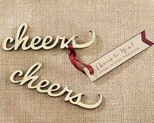 Cheers Antique Gold Bottle Opener | My Wedding Favors