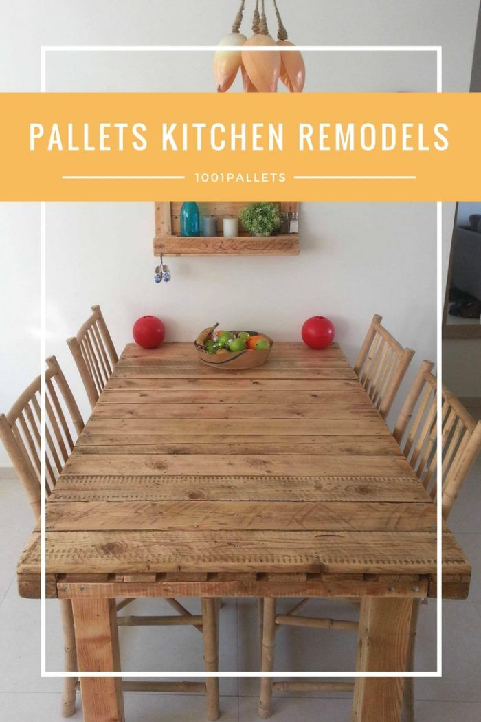 Thinking Outside The Box There are quite a few different remodeling solutions worth pursuing. You might refurbish the attic, or put in a deck, but one of the most striking and satisfying remodel choices pertains to a kitchen remodel. The thing is, this is going to be a very expensive remodel for... #Kitchen, #PalletKitchenIsland, #PalletTable, #RecyclingWoodPallets