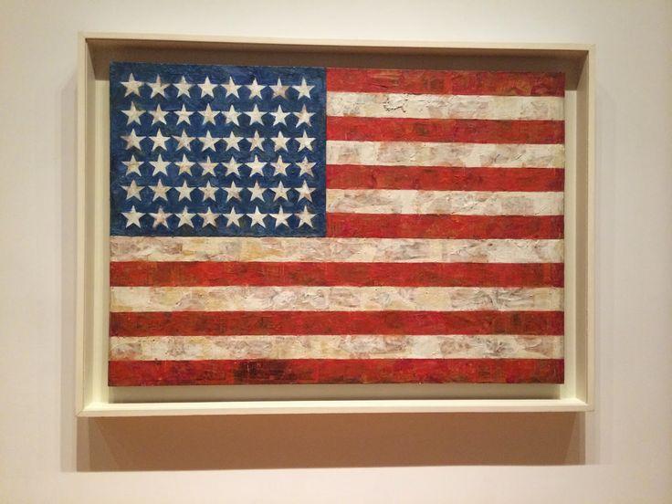 Jasper Johns   Flag - 1954-56  MoMA, a must visit in New York