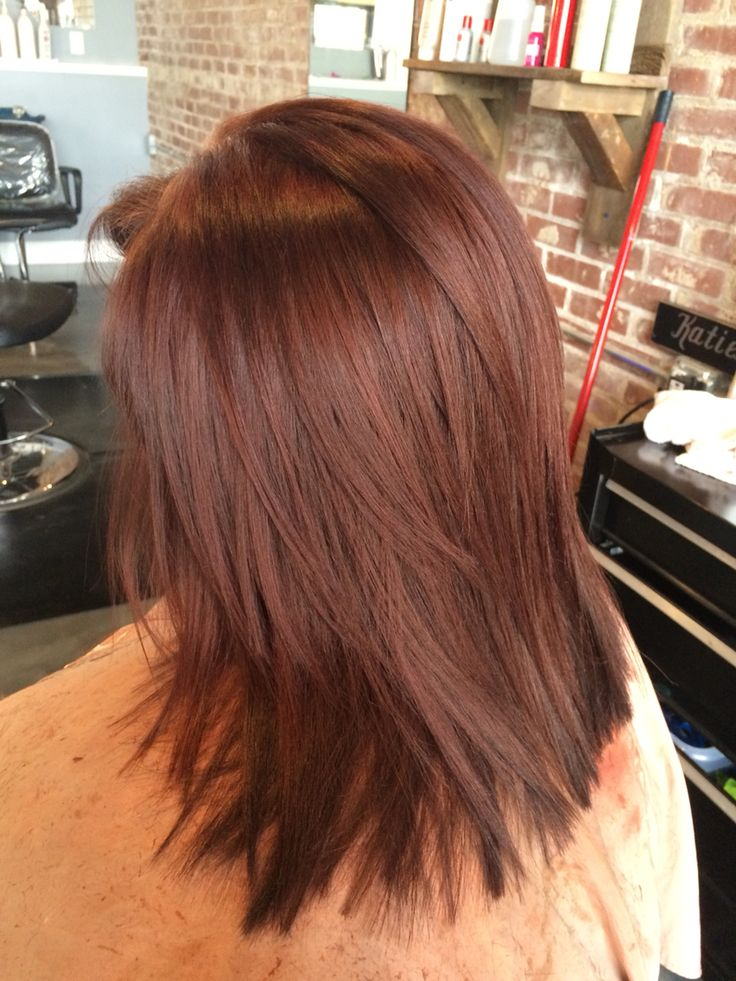 Warm all over mahogany brown color and clean cut. #aloxxi  #kreationsbykatie