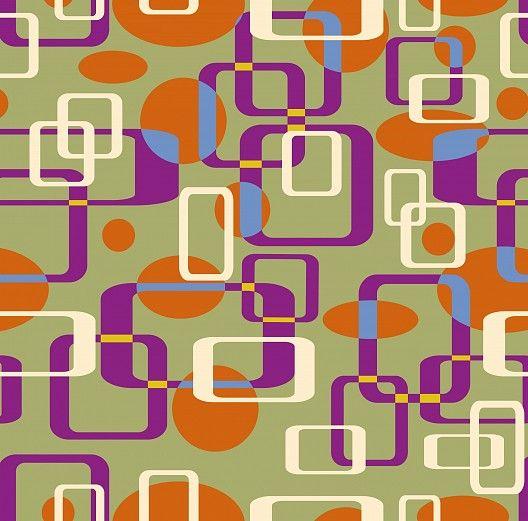 Violette Akzente für die Einrichtung im Retro-Design