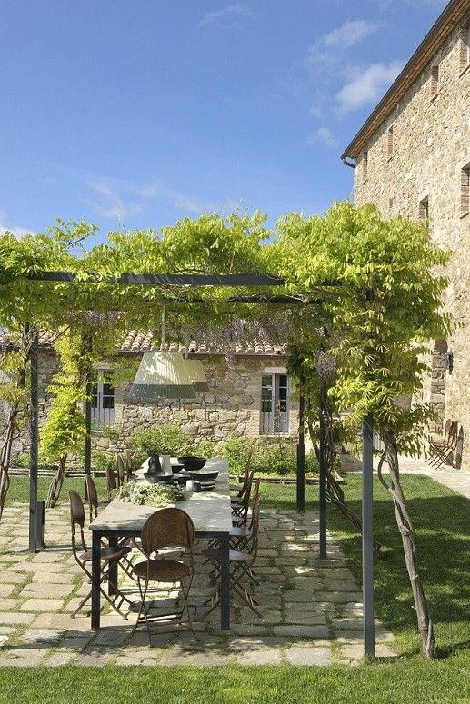 25 beste idee n over spaanse stijl huizen op pinterest spaans ontwerp spaanse stijl - Wijnstokken pergola ...