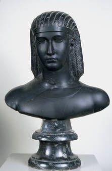 """""""Busto de un faraón"""", Anónimo, 130-140, Basalto"""