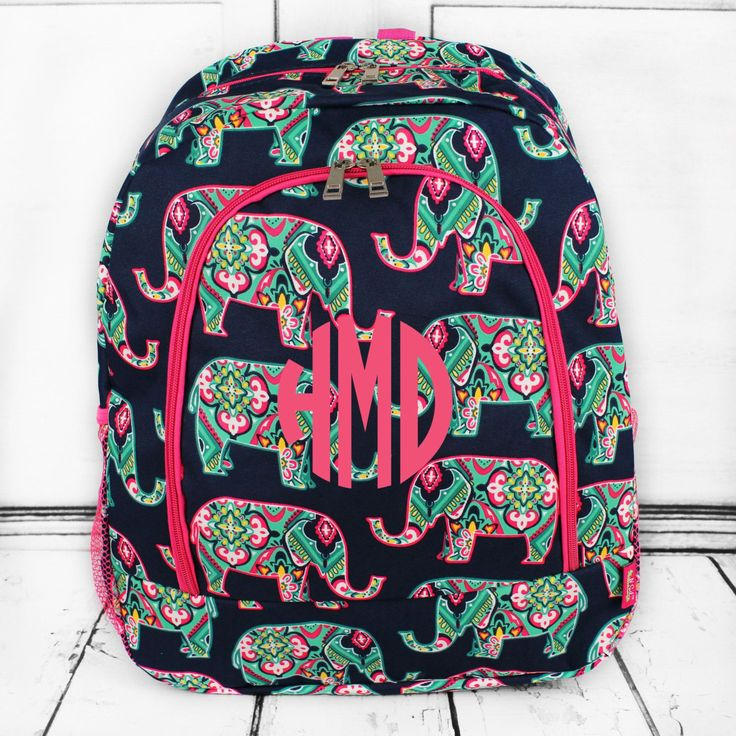 Bookbag, backpack, monogram backpack, back to school, personalized bookbag by IAmCreationsbyIvy on Etsy