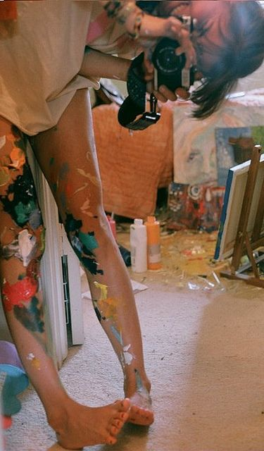 Always get paint on me