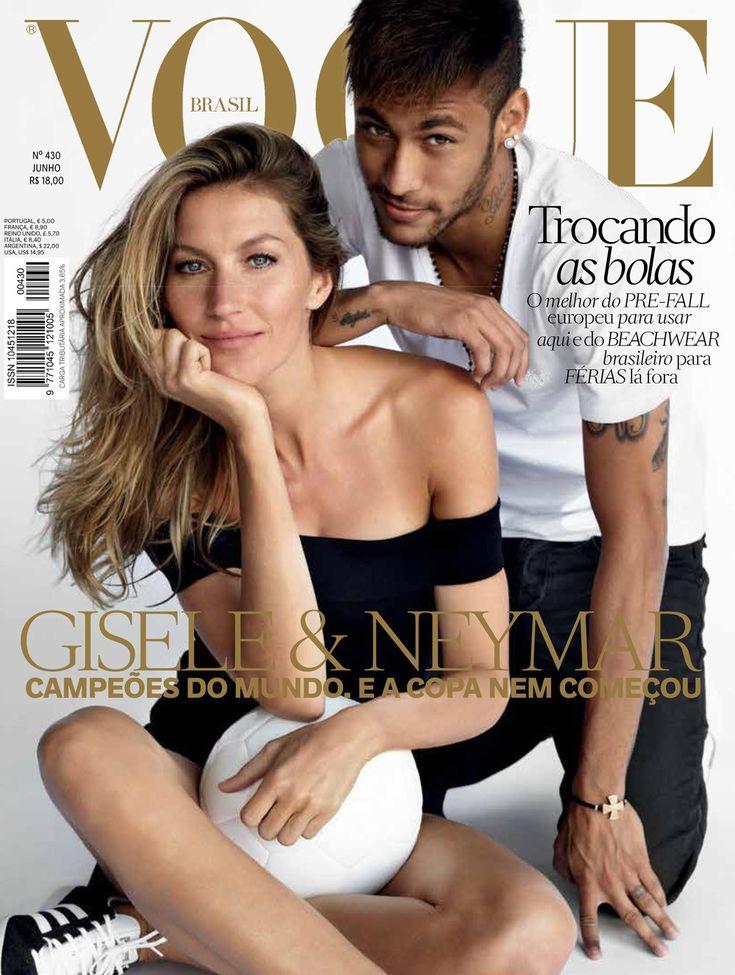 Capa Vogue Brasil Junho Gisele Bündchen Neymar (Foto:    )