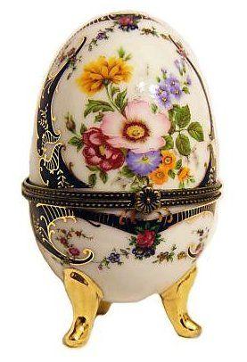 Limoges, Porcelain Floral Egg.