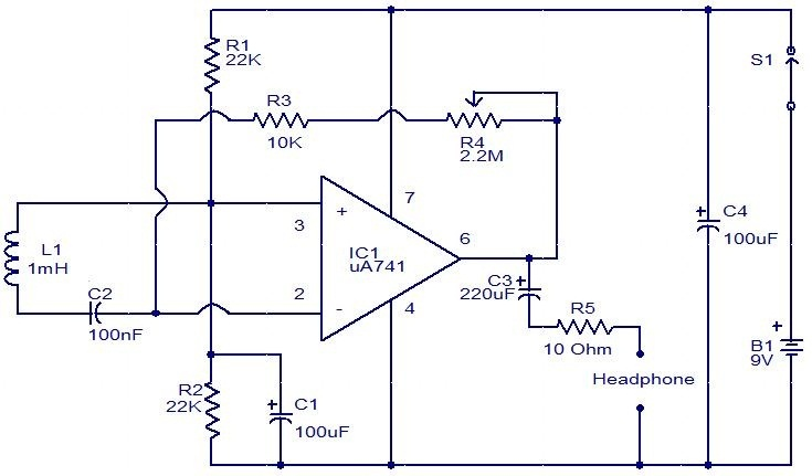 """EMF sensor circuit using inductor and Opamp..#circuits # ..."