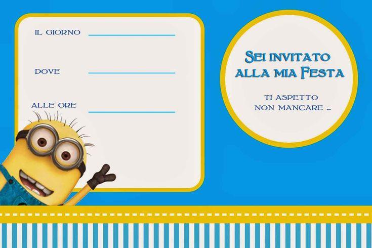 Top invito-compleanno-minions-bambini | festa compleanno | Pinterest  ZW69
