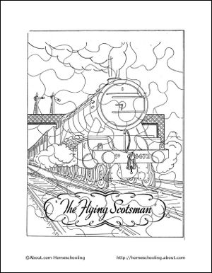 Learn About Trains With A Free Printable Train Coloring Book