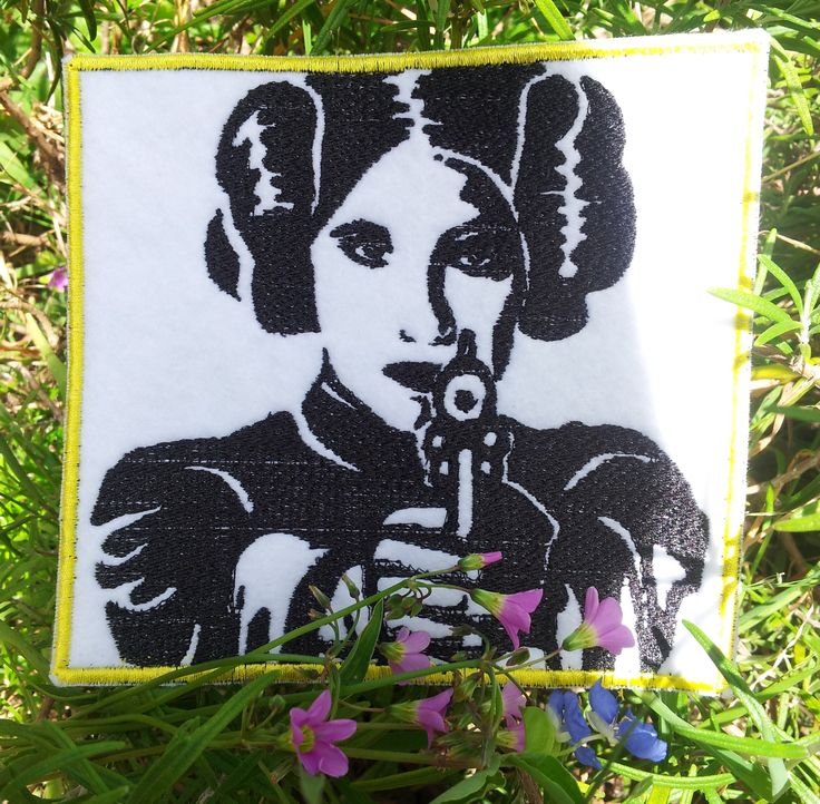 Star Wars /Princess Leia/ Carrie Fisher/ Sew on patch. www.etsy.com/au/shop/HourGlassSewing