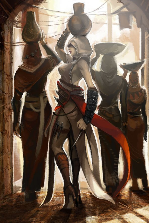 Beautiful fanart of a lady assassin from Assassin's Creed.