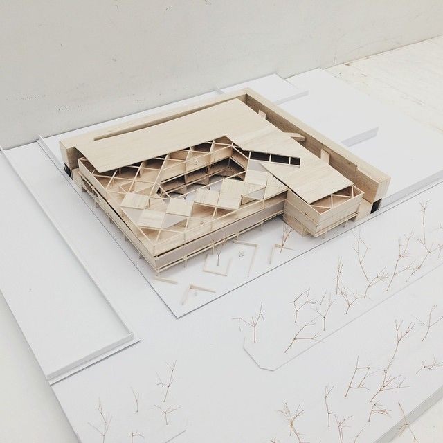 Clínica infantil, architectural model, maquette, modelo