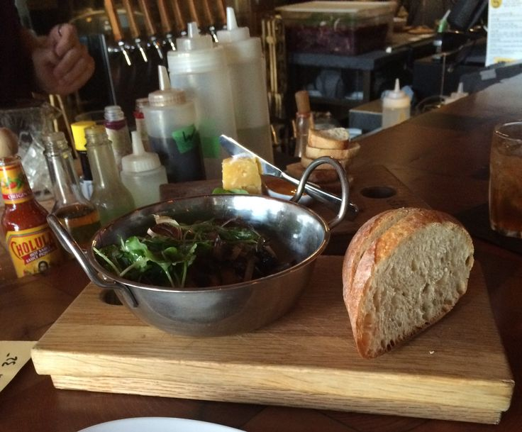 Smoked gouda and marinated local mushrooms at Micro Bar & Bites on our Kelowna Crawl http://bit.ly/KelownaCrawl