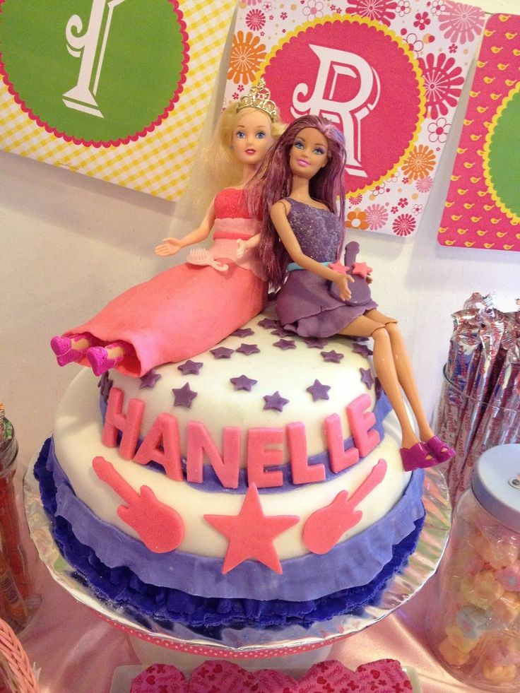 Best Barbie Parties Images On Pinterest Barbie Party - Birthday cake doll princess