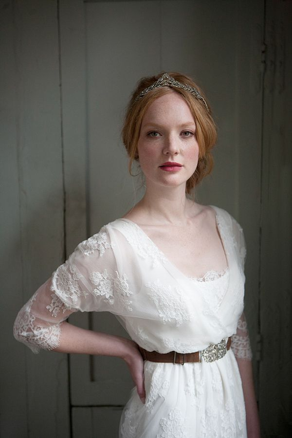 Sally Lacock Edwardian Vintage Inspired Wedding Dresses // Cherished Vintage Inspired Headpieces