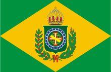 Bandeira do Império do Brasil durante o Primeiro Reinado.