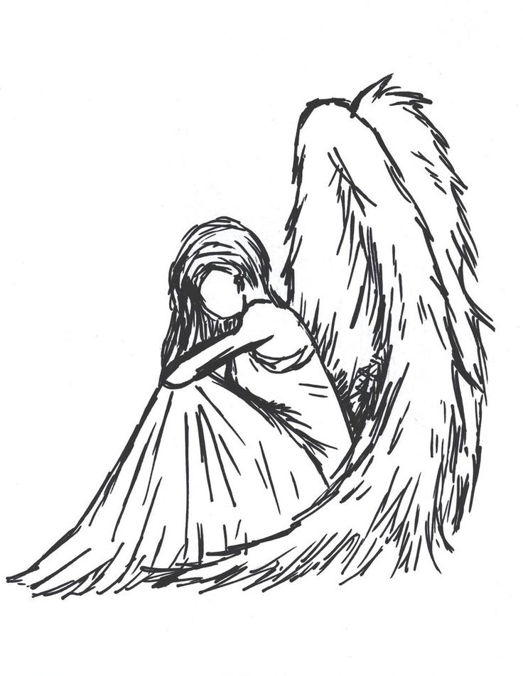 how to draw angel wings easy