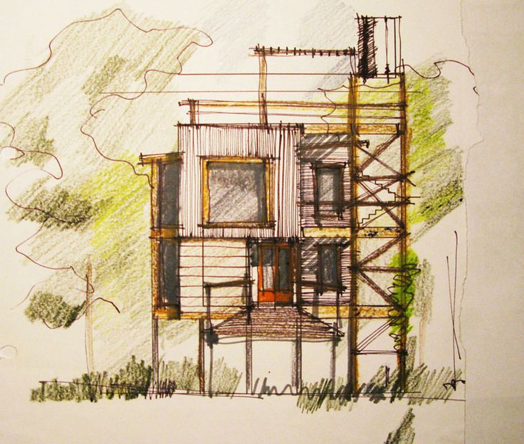 Architecture Drawing Colour