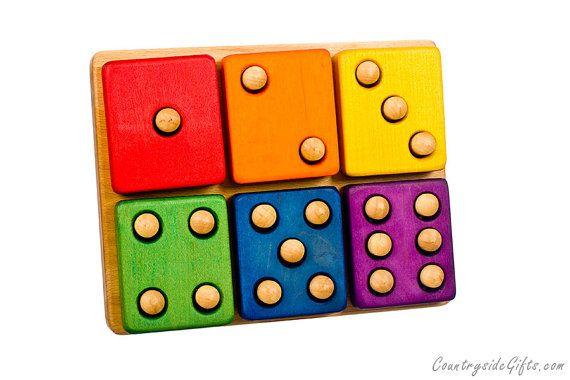 Stacker Blocks – juguete de Apilador de dominó de madera de colores para bebé bebes niño niños educativos y juguetes de desarrollo