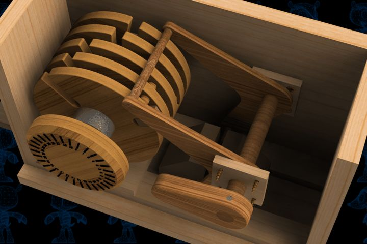Safe Lock Mechanism Wooden Toy - SketchUp,Parasolid,SOLIDWORKS,OBJ,Autodesk 3ds Max,STEP / IGES,STL - 3D CAD model - GrabCAD