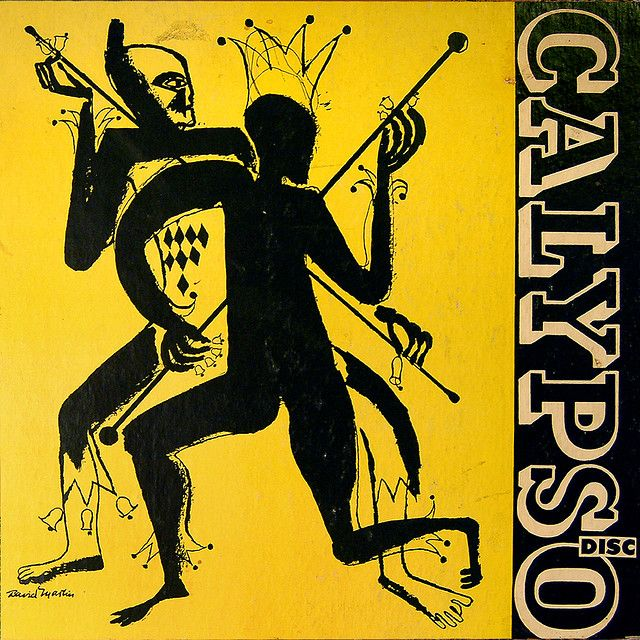 Compilation: Calypso Vol. II, label: Disc (1946) early illustration by David Stone Martin.