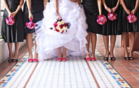 fuschia black wedding ideas - Google Search